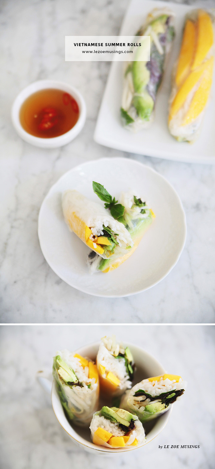 Vietnamese Summer Rolls by Le Zoe Musings