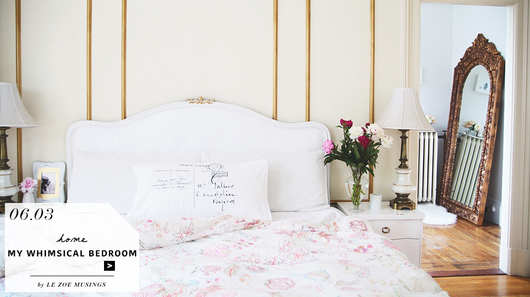 my whimsical bedroom feature by le zoe musings