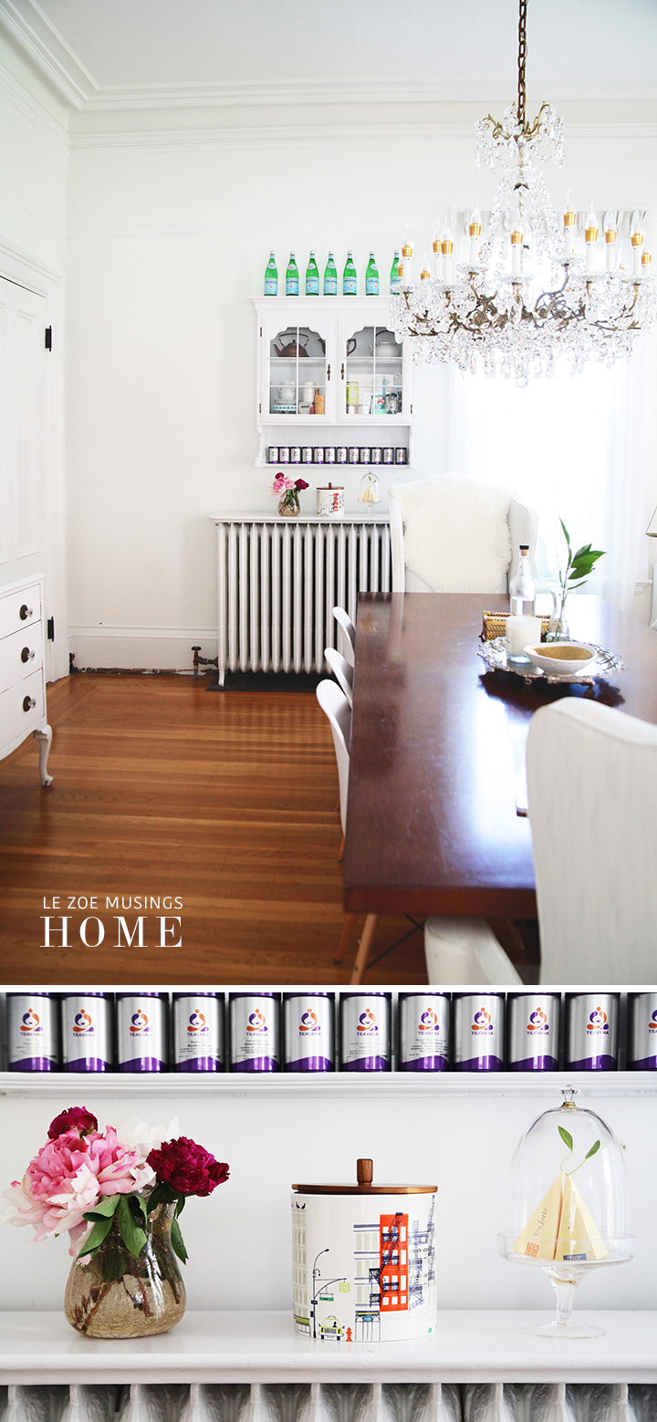 Tea Space in Dining Room by Le Zoe Musings