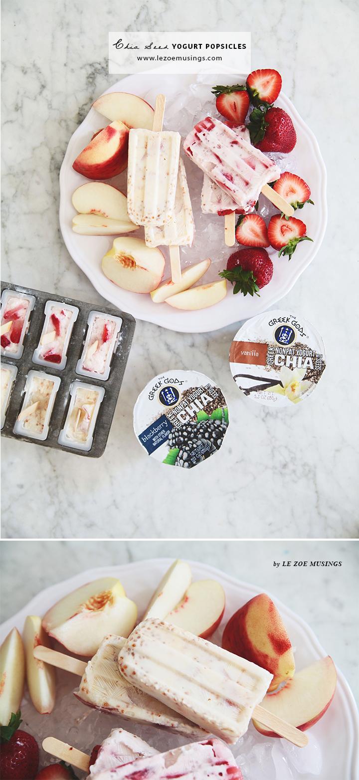 Chia Seed Yogurt Popsicles by Le Zoe Musings