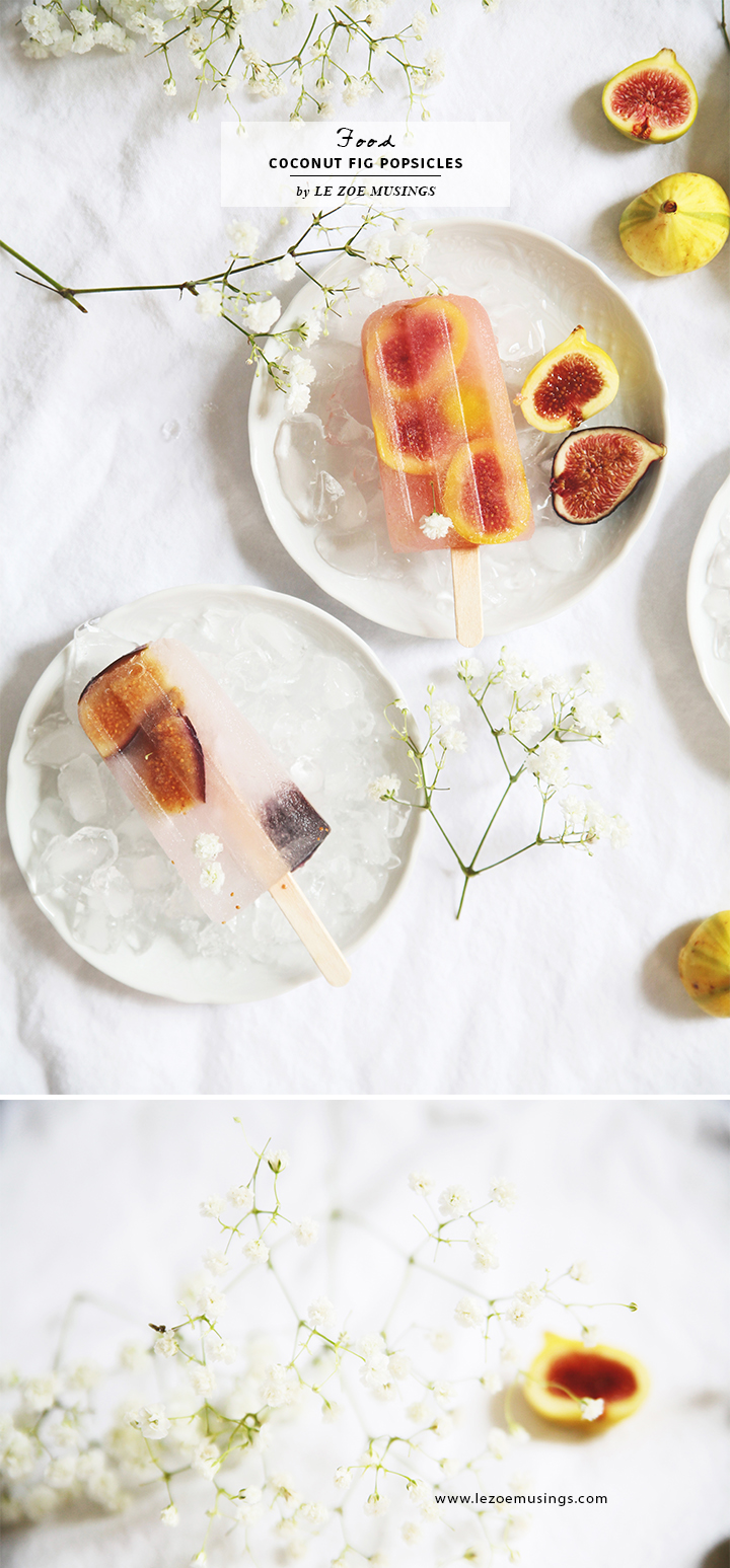 Coconut Fig Popsicles by Le Zoe Musings