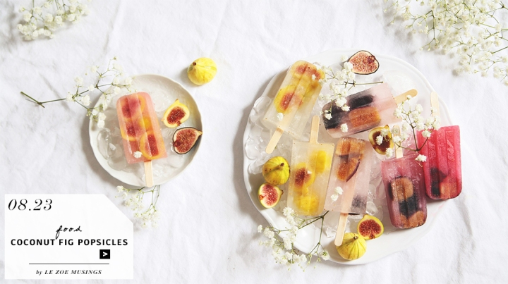 Coconut Fig Popsicles by Le Zoe Musings_Banner