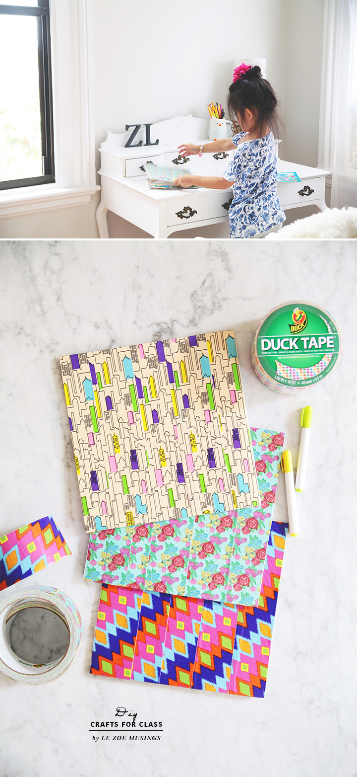 DIY Crafts for Class with Duck Tape by Le Zoe Musings 2