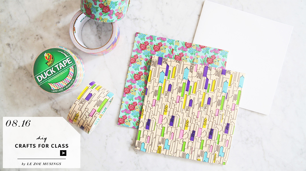 DIY Crafts for Class with Duck Tape by Le Zoe Musings_Banner