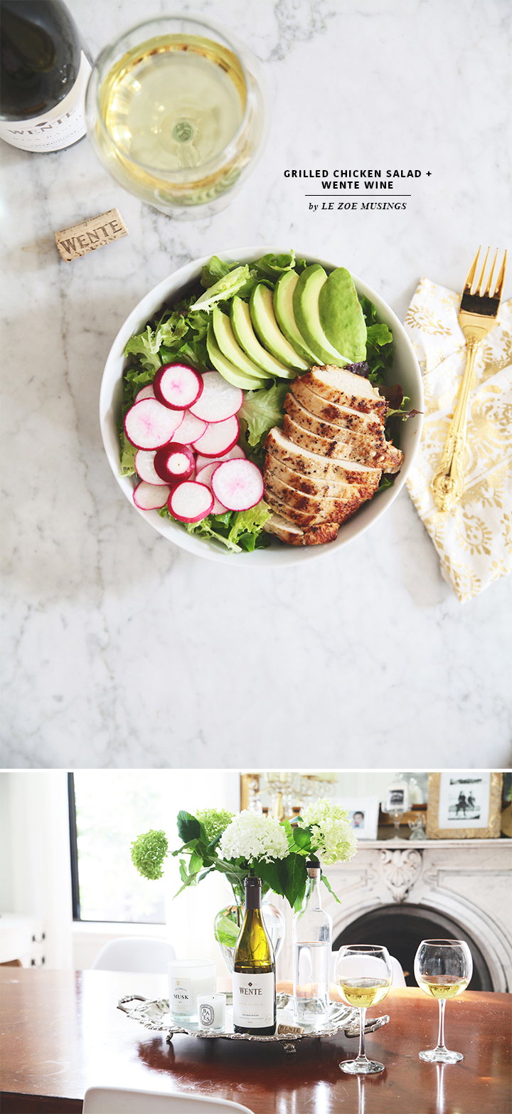 Grilled Chicken Salad_Wente Wine_Dining Room_by Le Zoe Musings
