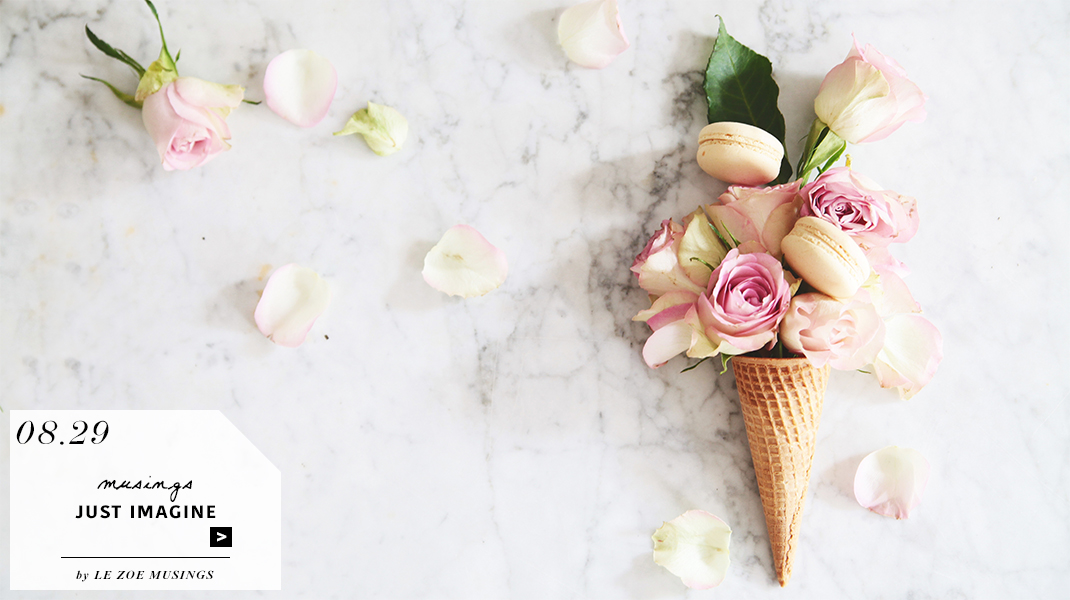 Rose Ice cream cone by Le Zoe Musings_banner