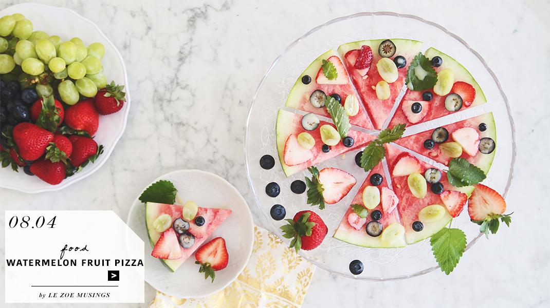 Watermelon Fruit Pizza BANNER by Le Zoe Musings