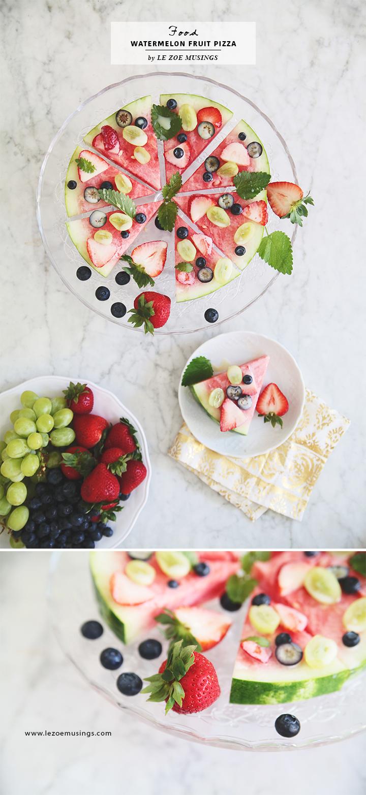 Watermelon Fruit Pizza by Le Zoe Musings