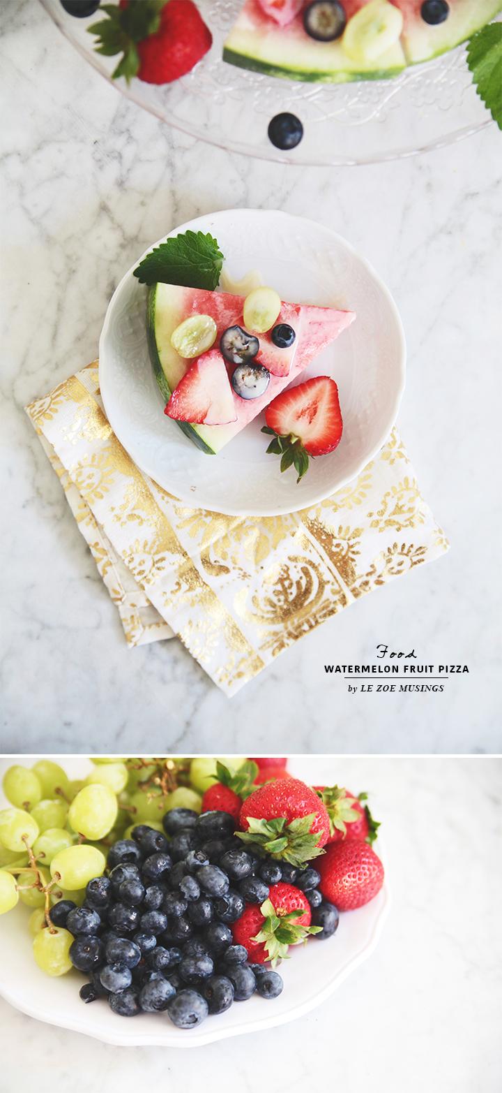 Watermelon Fruit Pizza by Le Zoe Musings2