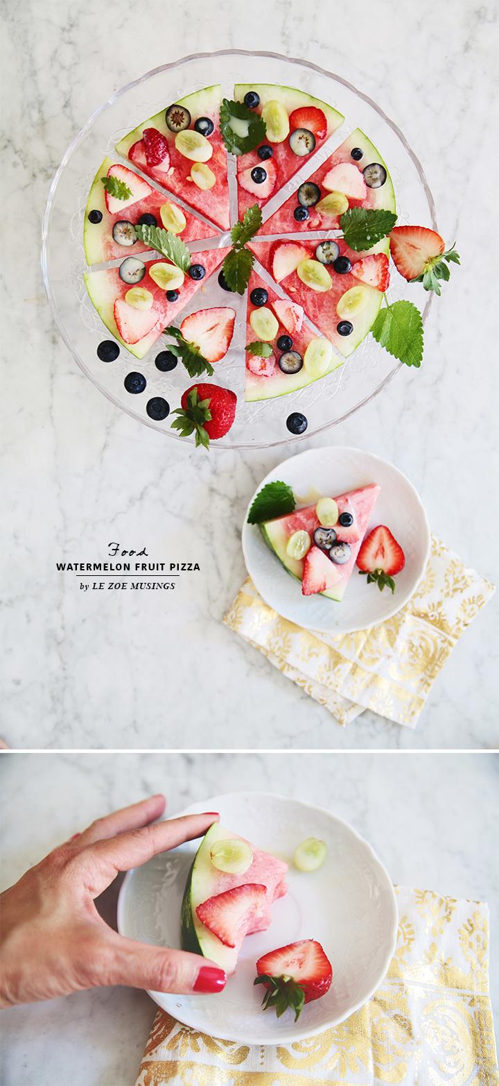 Watermelon Fruit Pizza by Le Zoe Musings3