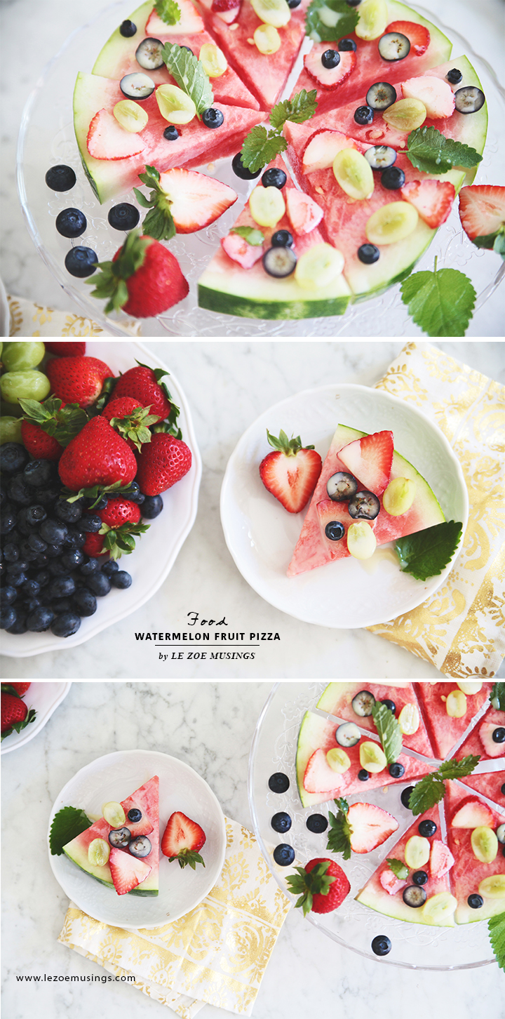 Watermelon Fruit Pizza by Le Zoe Musings4
